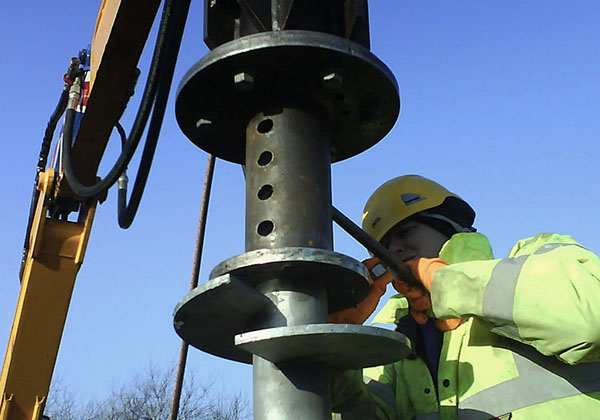 Screw Piles helical piles steel foundations