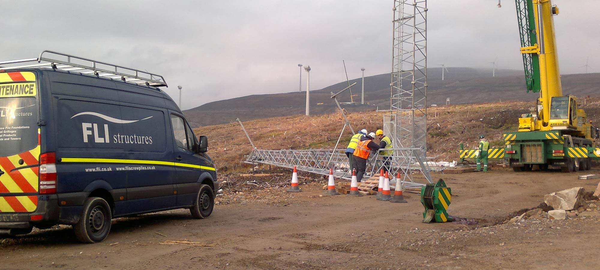 Temporary Guyed Met Masts from FLI Structures